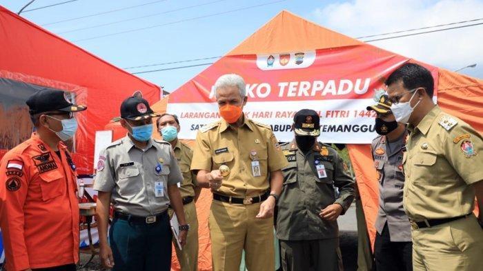 Hari Ini Gubernur Ganjar Pranowo Cek Pos Penyekatan di Magelang dan Temanggung, Begini Hasilnya