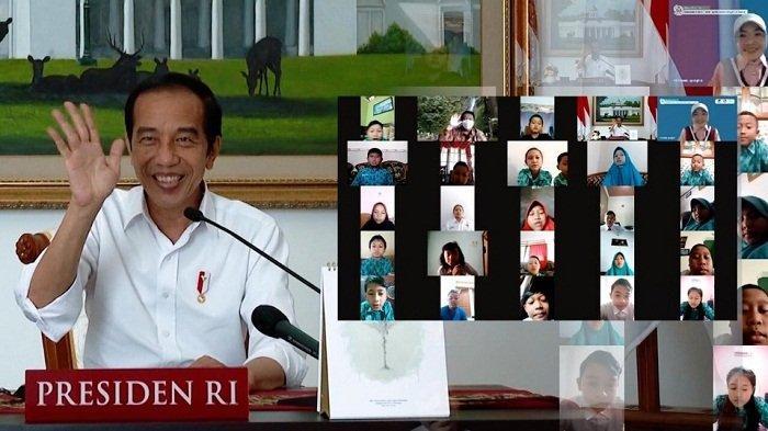 Diserbu Pertanyaan Anak-anak Cilongok Banyumas soal Tugas Presiden, Ini yang Bikin Jokowi Tertawa