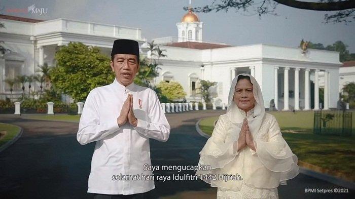 Lewat Tayangan Youtube, Presiden Jokowi dan Ibu Negara Iriana Ucapkan Selamat Idulfitri