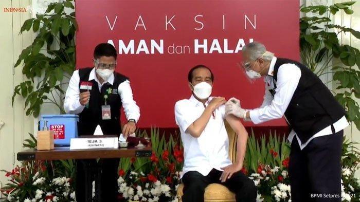 Terima Vaksin Covid Dosis Kedua, Setelah Dua Jam Presiden Jokowi Hanya Merasa Pegal-pegal
