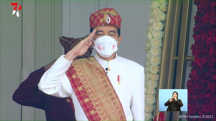Pakai Baju Adat Lampung, Presiden Jokowi Pimpin Upacara Hari Kemerdekaan RI