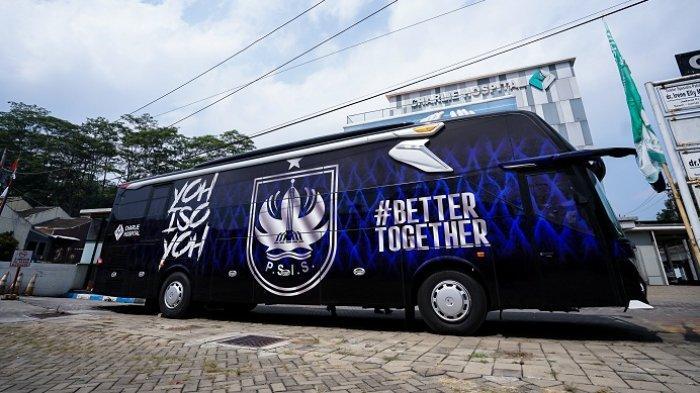 Begini Tampilan Bus Anyar PSIS Semarang: Bernuansa Biru Hitam, Dilengkapi Tulisan Better Together
