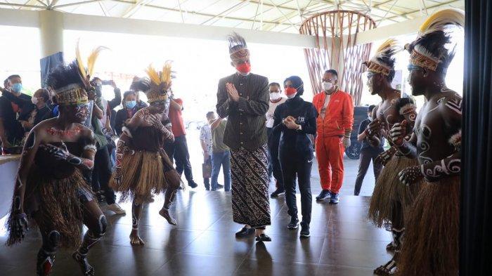 Meriahnya Puncak Peringatan Haornas 2021 di Jateng, Gubernur Ganjar Disambut Tarian Asal Papua