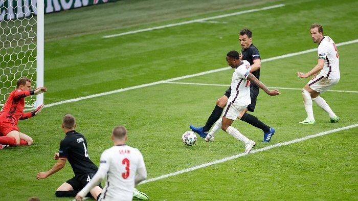 Hasil EURO 2020: Jalan Inggris Menyongsong Final Kian Terbuka, Kalahkan Jerman 2-0 di 16 Besar