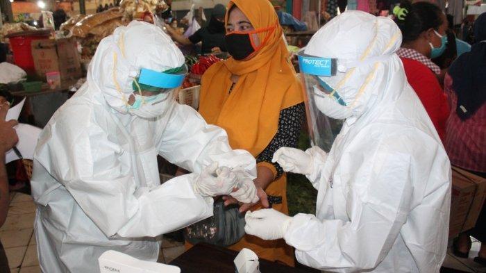Hasil Rapid Test Massal Virus Corona di Pasar Bandarjo Ungaran Hari Ini