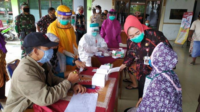 Hasil Rapid Test Massal di Pasar Tradisional Purbalingga, 7 Pedagang Reaktif Corona Diisolasi