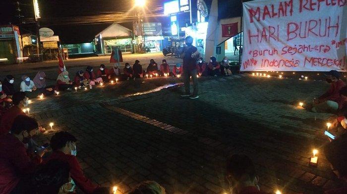 Gelar Refleksi Hari Buruh di Halaman UMP, IMM Purwokerto Doakan Buruh Segera Sejahtera