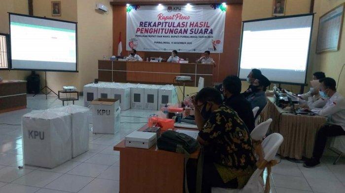 Hasil Rekapitulasi Suara Tingkat Kabupaten di Purbalingga: Oji-Jeni 45,26%, Tiwi-Dono 54,74%