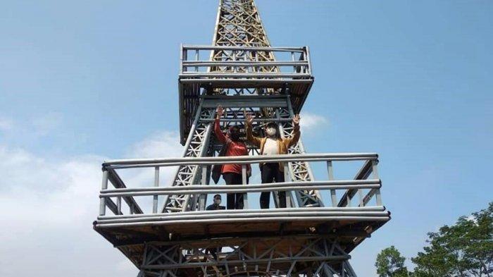 Tak Perlu Jauh ke Paris, Banyumas Juga Miliki Menara Eiffel, Lokasinya di Desa Wisata Kaliurip