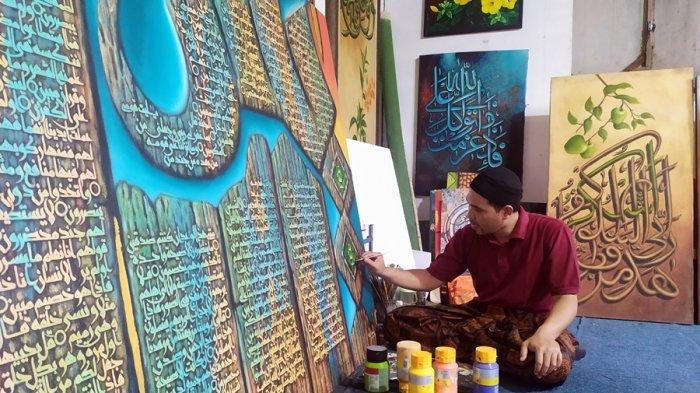 Menengok Sanggar Seni Kaligrafi Alif di Salatiga, Karyanya Sudah Laku Hingga Negara Paman Sam