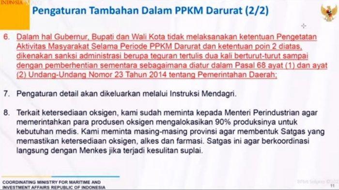 Tidak Laksanakan PPKM Darurat, Kepala Daerah Bakal Kena Sanksi, Gubernur Jateng: Saya Setuju