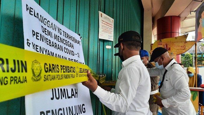 Satpol PP Kota Semarang Tutup Paksa Swalayan Ramai, Ada Karyawan Positif Covid Tetap Masuk Kerja