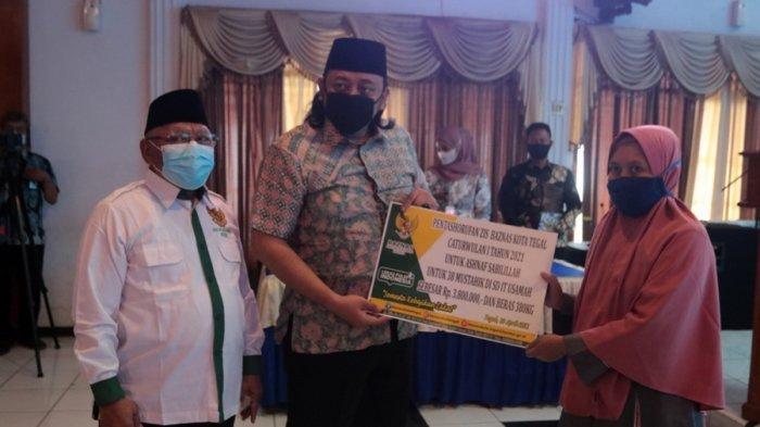 Baznas Salurkan Paket Sembako, Bentuk Apresiasi Terhadap Guru Agama di Kota Tegal
