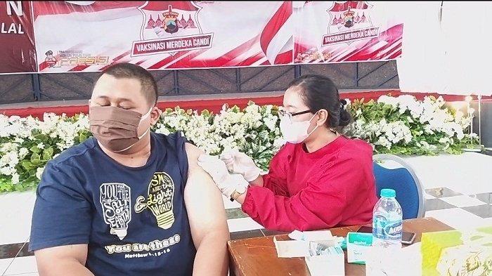 Gelar Vaksinasi Merdeka Candi hingga 17 Agustus 2021, Polres Salatiga Sediakan 2000 Vaksin Per Hari