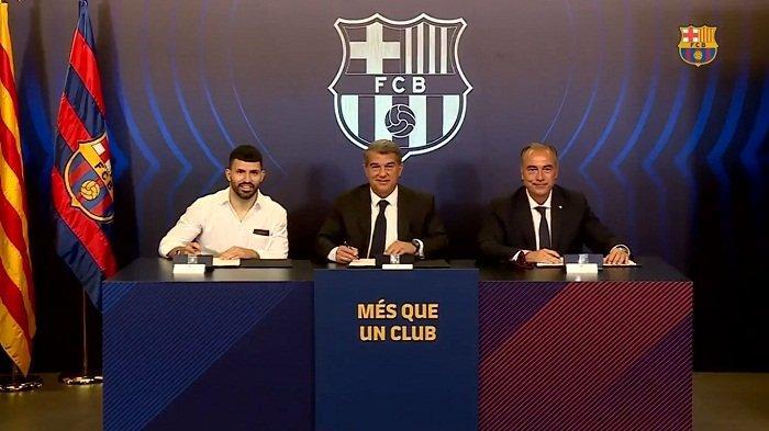 Dipinang Barcelona, Sergio Aguero Teken Kontrak Rp 1,7 Triliun untuk 2 Tahun