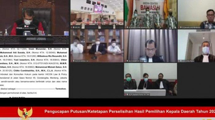 Sah, Pilkada Rembang 2020 Dimenangkan Hafidz dan Hanies. MK Tolak Gugatan Harno-Bayu