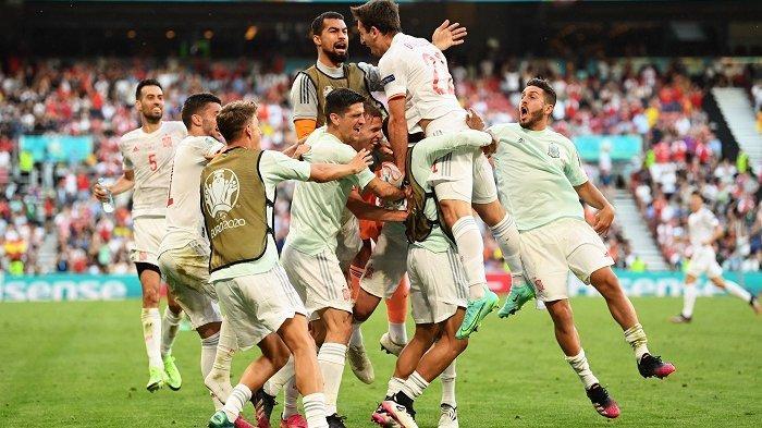 HASIL EURO 2020: Kalahkan Kroasia 3-5, Spanyol Melaju ke Perempat Final Lewat Drama 120 Menit