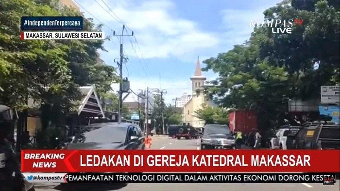Bom Bunuh Diri Meledak di Gereja Katedral Makassar: Pelaku Naik Motor, Sempat Ditahan Penjaga Gereja