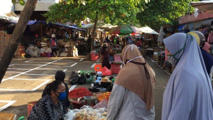 3 Pedagang Positif Corona, Pasar Karangayu Semarang Kembali Dibuka, Begini Suasananya Pagi Ini