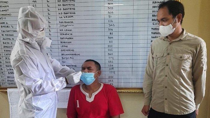 Tahanan di Mapolresta Banyumas Jalani Swab Antigen Covid-19, 8 Orang Dinyatakan Negatif