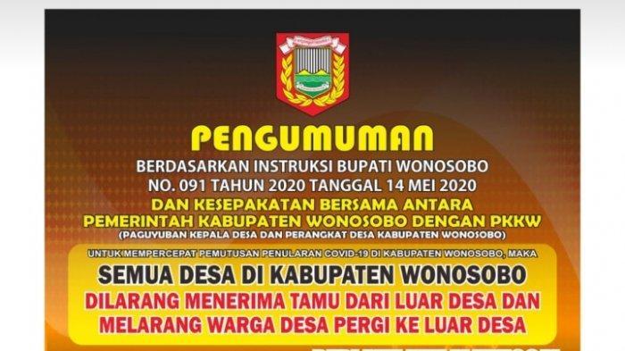 Beredar Poster Wonosobo Karantina Wilayah hingga Warga Dilarang Keluar Desa, Pemkab Menyangkal