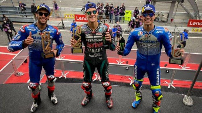 Rossi Gagal Naik Podium, Fabio Quartararo Raih Kemenangan Ketiga di MotoGP Catalunya