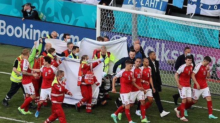 Ambruk di Laga Euro 2020 Melawan Finlandia Tadi Malam, Begini Kondisi Gelandang Denmark Eriksen