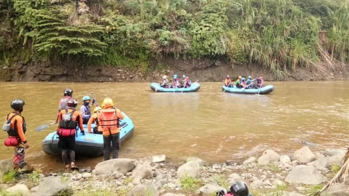 Tenggelam di Sungai Serayu Sejak Senin, Bocah Asal Linggamerta Banjarnegara Belum Diketemukan