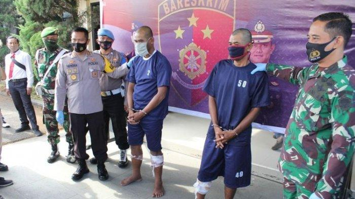 Dua Pria Berseragam TNI Ratusan Kali Merampok, Berakhir di Bandung setelah Kaki Ditembak Polisi