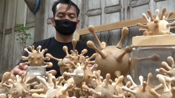 Sepi Order Karena Pandemi, Pria Asal Madiun Ini Ciptakan Toples Berbentuk Virus Corona