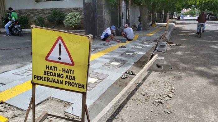 Kota Tegal Punya 10 Trotoar Baru Akhir Tahun Ini, Anggaran Capai Rp 1,95 Miliar