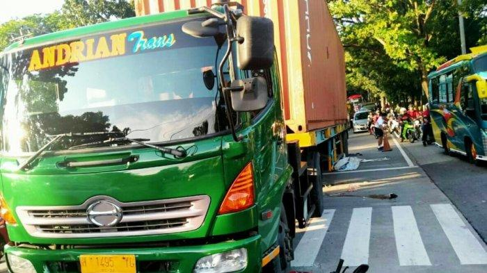 Kecelakaan Hari Ini Truk Kontainer Ngeblong Di Semarang Hantam Enam Motor Satu Meninggal Tribun Banyumas