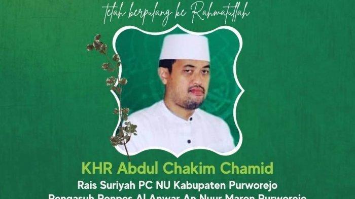 Innalillahi Wainailahi Rojiun. Rois Syuriah PCNU Kabupaten Purworejo KHR Abdul Hakim Hamid Berpulang