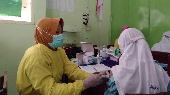 700 Siswa Dilaksanakan Selama 4 Hari, Vaksinasi SMPN 1 Cepiring Kendal