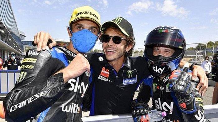 Adik Valentino Rossi, Luca Marini Menangi Moto2 San Marino. Pebalap Indonesia Andi Farid Gagal Finis