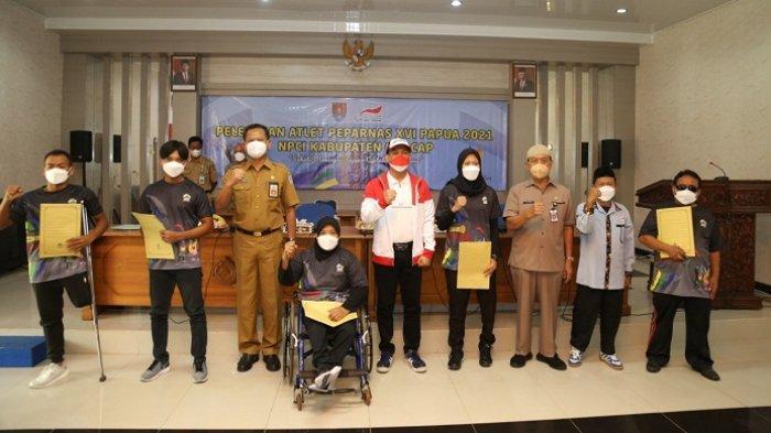 24 Atlet Difabel Cilacap Perkuat Jateng di Peparnas Papua, Wakil Bupati Minta Terus Jaga Kesehatan
