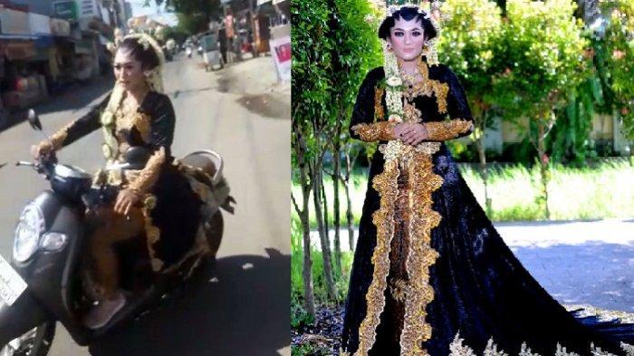 Viral, Wanita Berpakaian Pengantin Jawa Motoran di Jalanan Kota Pekalongan. Ini Faktanya