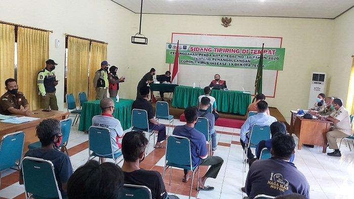 Belasan Orang Terjaring Razia Prokes di Kota Tegal, Sutiyoko: Kapok Didenda Rp 25 Ribu