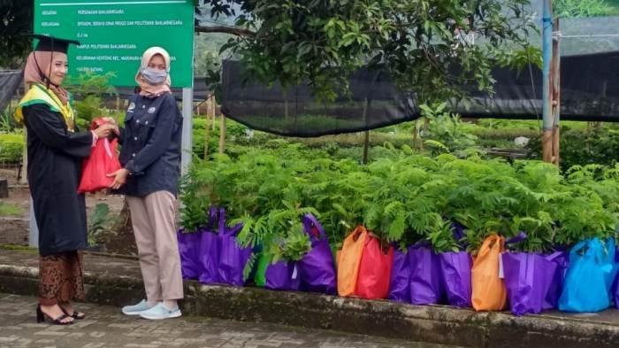 Di Politeknik Banjarnegara, Wisudawan Dapat Souvenir Kelulusan 10 Bibit Pohon