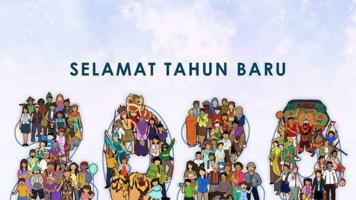 Gambar Ucapan Tahun Baru 2020 Jokowi dan Prabowo Subianto, Simak Juga Best Nine 2019 Najwa Shihab