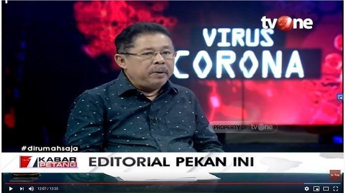 Pimpinan Redaksi tvOne, Karni Ilyas dalam kanal YouTube tvOneNews, Senin (30/3/2020).