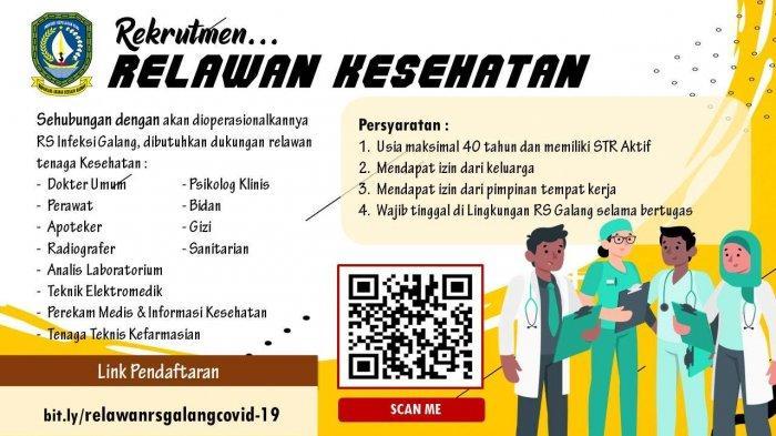 Dinkes Kepri Rekrut Tenaga Kesehatan Untuk RS Khusus Covid-19 Galang,Cek Syarat dan Cara Daftar