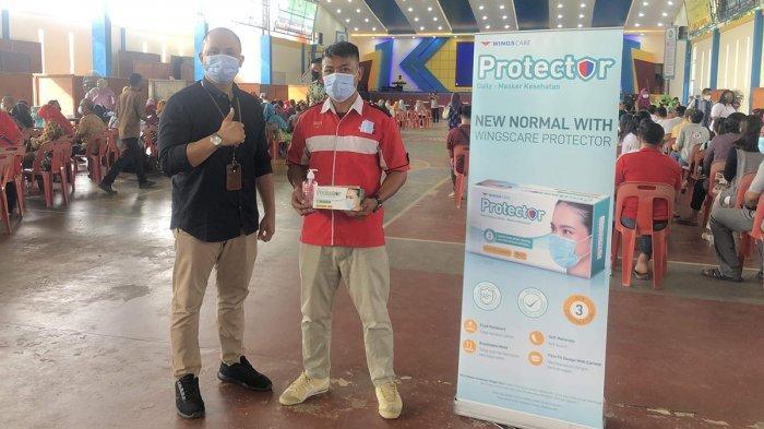 Bagikan Ribuan Masker hingga Vitamin, PT Wings Batam Dukung Vaksinasi 1.500 Guru Batam