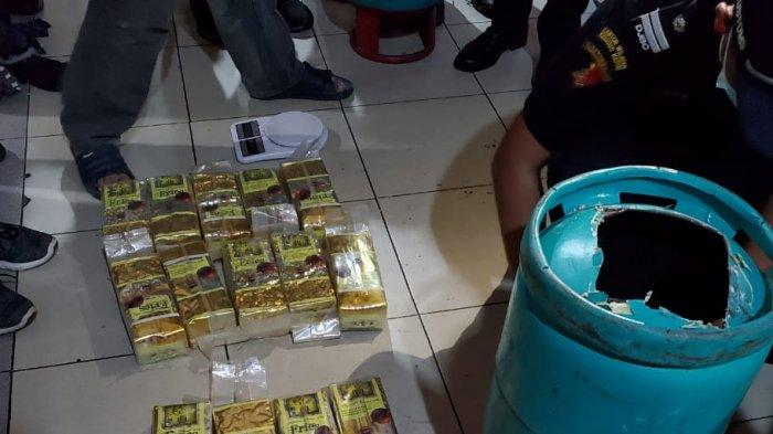 Sabu dan Happy Five Senilai Rp 17 Miliar dari Malaysia Dimasukkan dalam Tabung Gas
