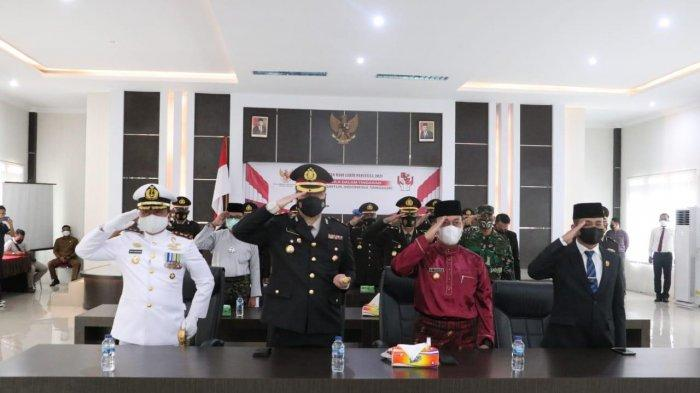 Bupati Lingga Ikut Upacara Virtual Hari Lahir Pancasila Bersama Presiden Jokowi