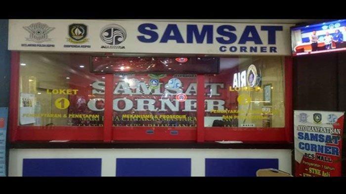 Samsat Corner di BCS Mal Batam untuk pelayanan pembayaran pajak kendaraan bermotor