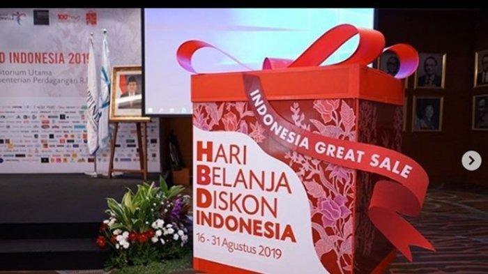 Promo Bulan Agustus 2019 di Hari Belanja Diskon Indonesia 2019, Potongan hingga 74 Persen