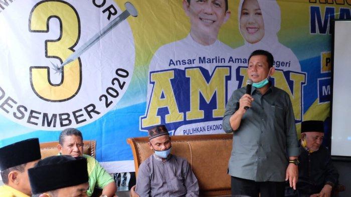 KAMPANYE - Calon Gubernur Kepri Ansar Ahmad saat melakukan kampanye.