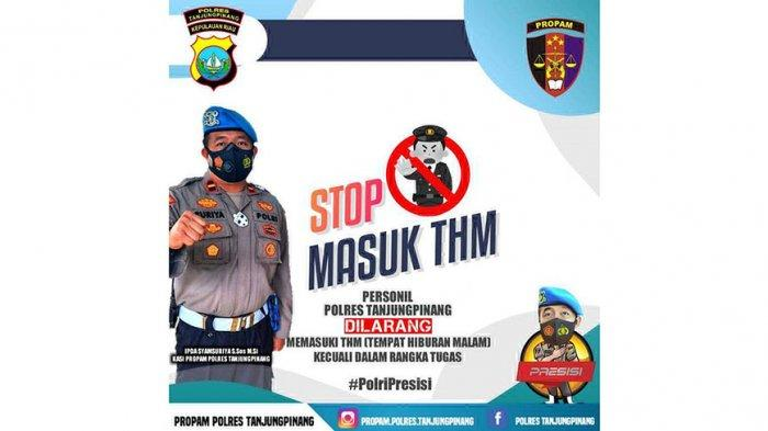 Imbas Aksi Bripka CS, Polres Tanjungpinang Bakal Tertibkan Anggota yang Masuk THM