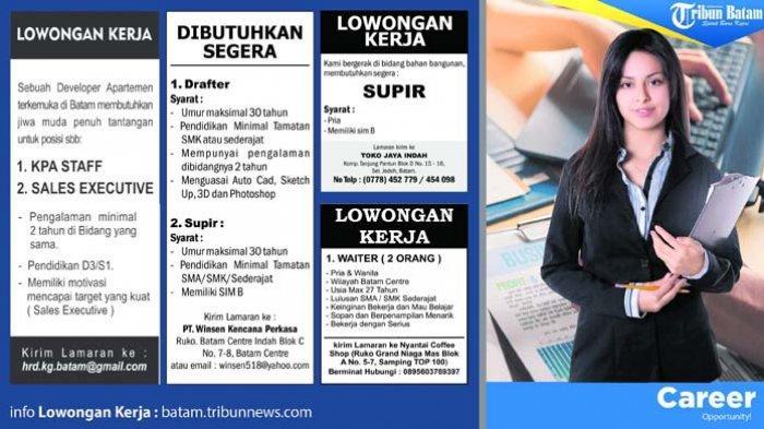 Info Loker Batam 2019, Simak Lowongan serta Syaratnya